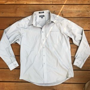 men's croft & barrow gray button down shirt